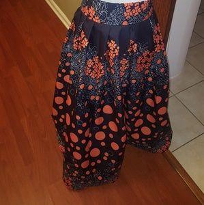 Dresses & Skirts - Ankara Print Maxi Hi Waist Skirt HANDMADE